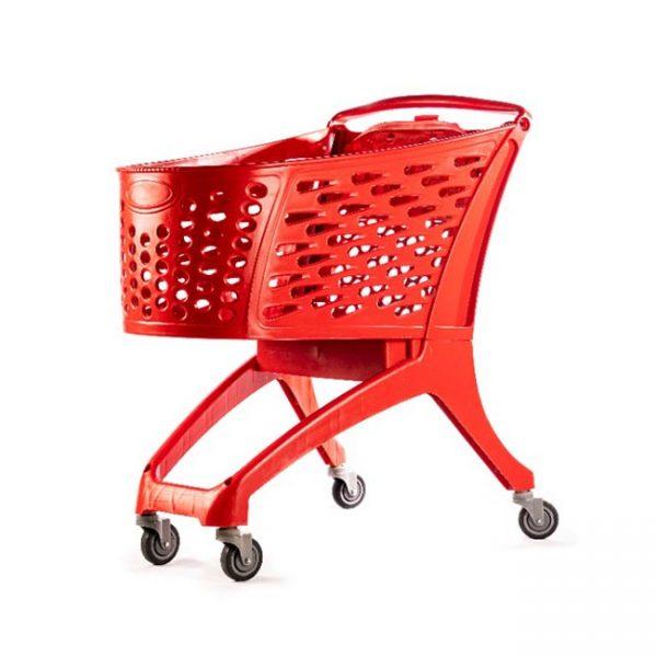 ترولی خرید فروشگاهی 160 لیتری قرمز