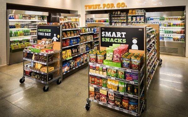 دکور چیدمان مغازه سوپرمارکت کوچک