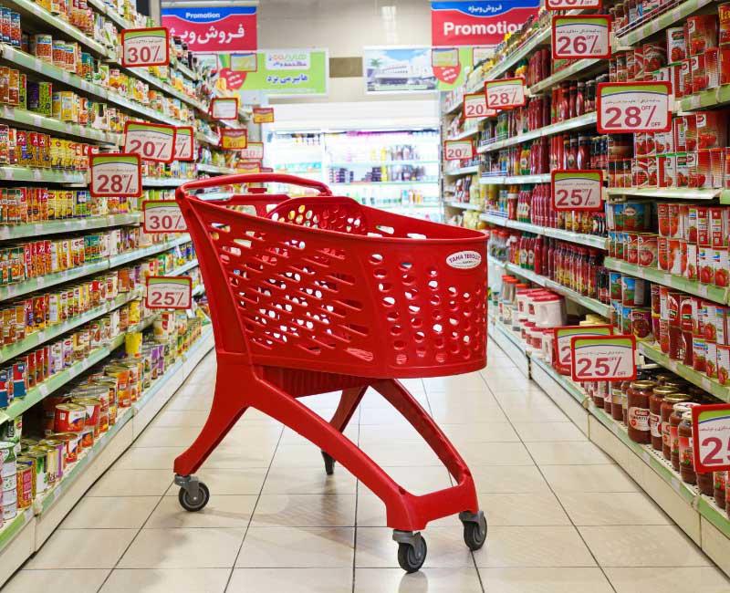 ترولی خرید فروشگاهی 210 لیتری